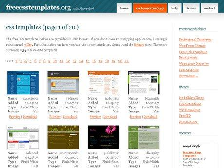 free-web-site-css-templates